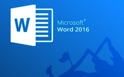 E791 Word 2016. Básico